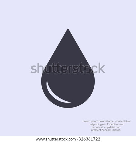 liquid droplet web icon. vector design - stock vector