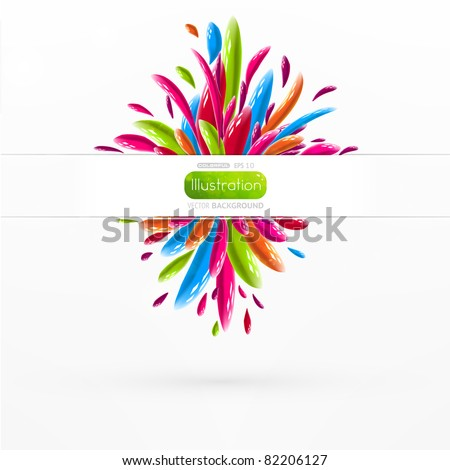 Liquid glossy shapes background - stock vector