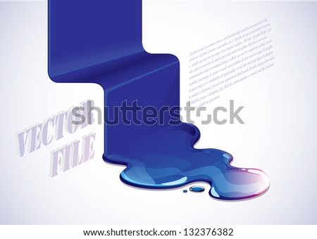 liquid illustration - stock vector