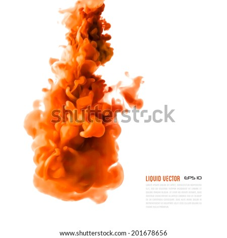Liquid ink cloud. Vector abstract background for banner, card, poster or web design. - stock vector