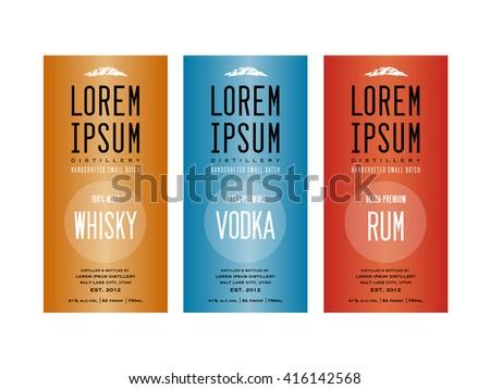 bottle labels design