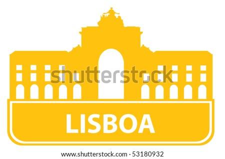 Lisboa outline. Vector illustration - stock vector