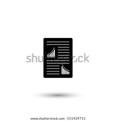 List Paper Text Graphs Vector Icon Stock Vector 551439715 Shutterstock