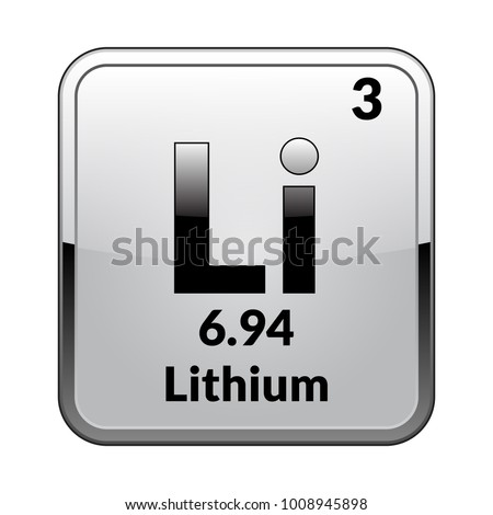 Lithium symbol chemical element periodic table on stock vector lithium symbolemical element of the periodic table on a glossy white background in a urtaz Choice Image