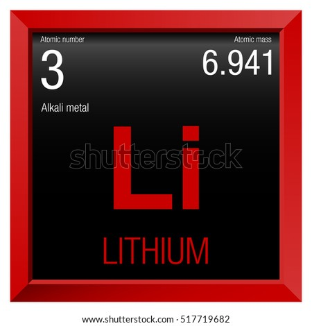 Lithium symbol element number 3 periodic stock vector 517719682 lithium symbol element number 3 of the periodic table of the elements chemistry urtaz Gallery