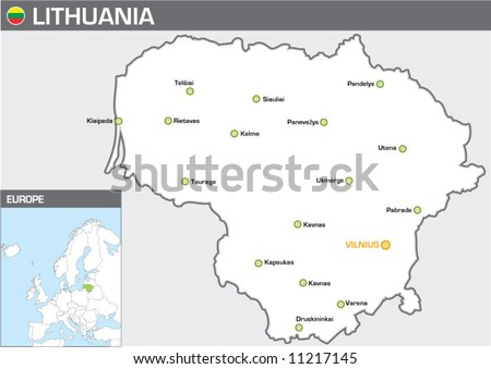 Lithuania - stock vector