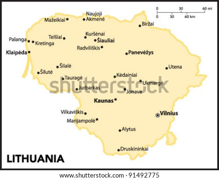 Lithuania Country Map