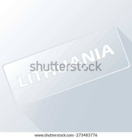 Lithuania unique button for any design. Vector illustration