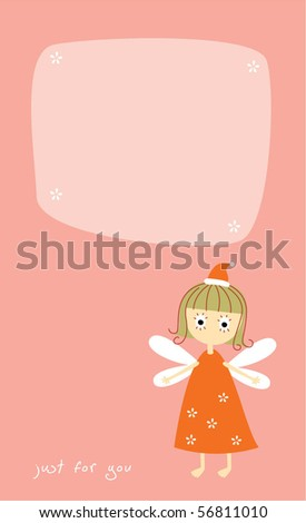 little angel gift tag