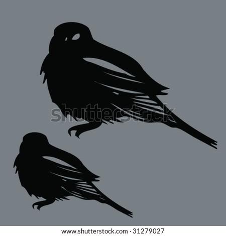 little bird - stock vector