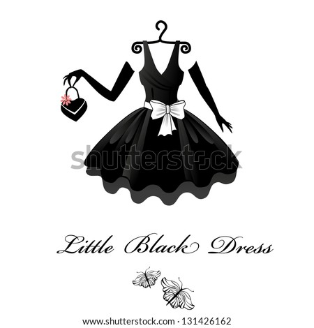 Little Black Dress Silhouette Clip Art - Hot Girls Wallpaper