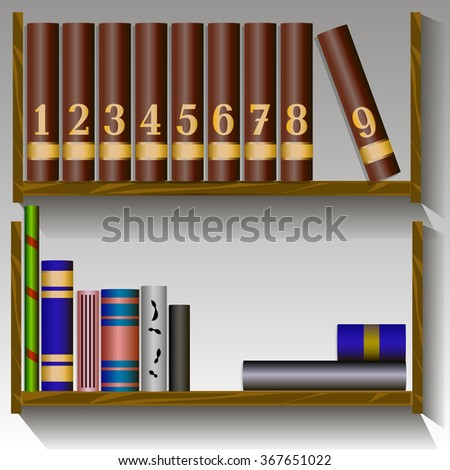 Little Bookshelf Stock Vector 367651022