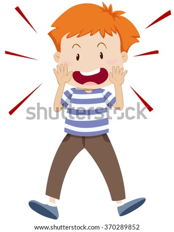 Boy Yelling Clipart
