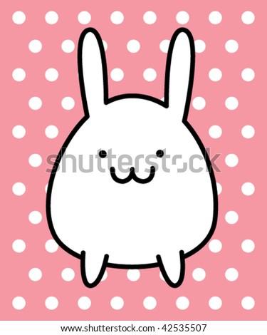 little bunny - stock vector