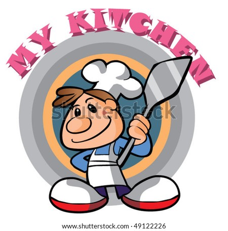 little chef character3 - stock vector