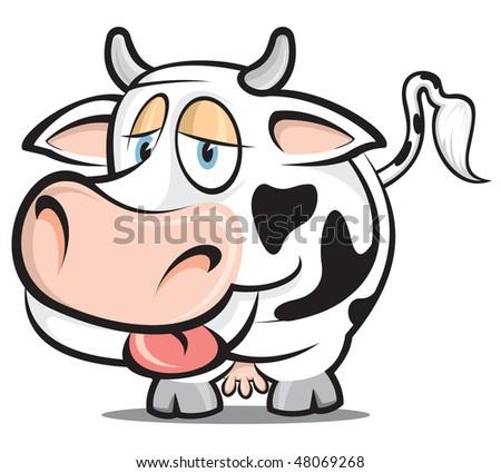 Little Cow - stock vector