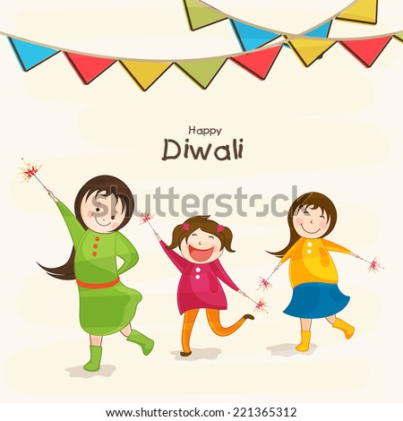 happy diwali cartoon pataka pictures