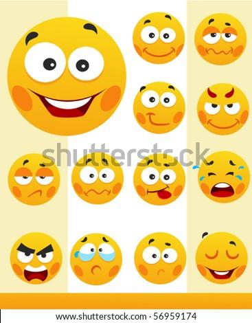 Little cute smiles - stock vector