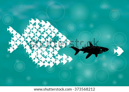 Big Fish Eating Small Fish Stock Vectors Vector Clip Art