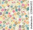 little floral seamless background - stock vector