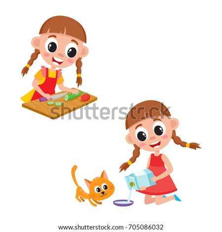 caterpillar shoes cleaning girl clipart without backgrounds