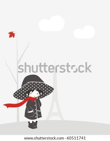 Little girl in Paris