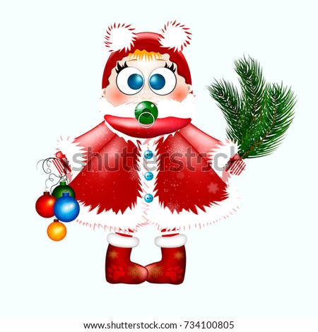 little girl with a christmas tree and christmas toys on isolated background happy girl dressed - Sign Up For Free Christmas Toys