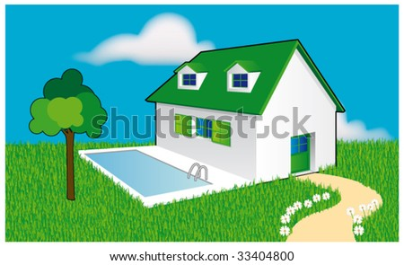 Little home - stock vector