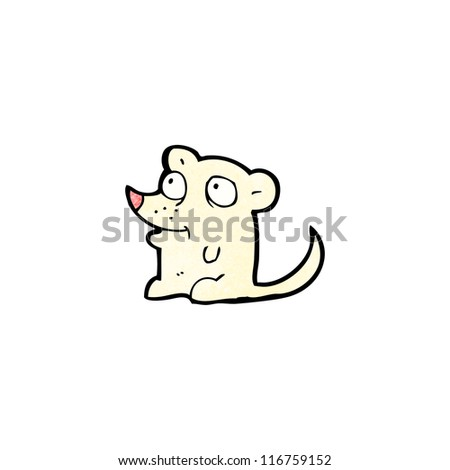 little mouse cartoon character - stock vector