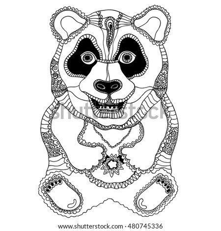 scary monkey coloring pages | Monster Scary Monkey Art New Year Stock Illustration ...
