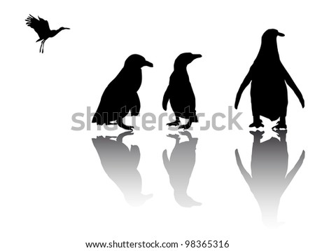 little penguin group - stock vector