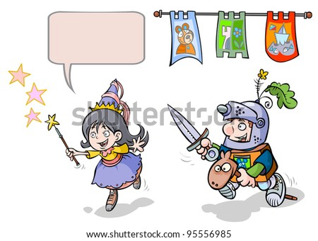 Little Princess- Enchantress and Knight- Boy.