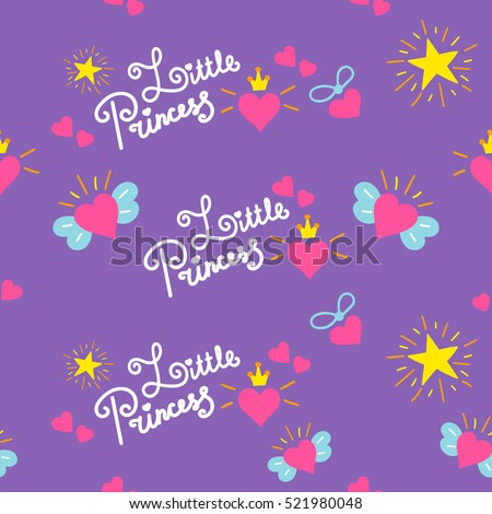 Little princess pattern vector sweet girl stock vector 521980048 little princess pattern vector sweet girl background for template birthday card baby shower invitation stopboris Image collections