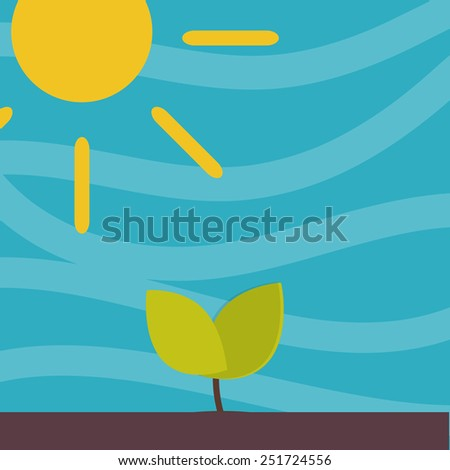 Little sprout flat background - stock vector