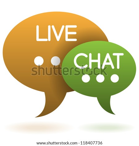 live chat speech balloons icon vector illustration - stock vector
