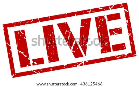 live stamp.stamp.sign.live. - stock vector