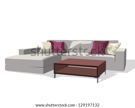 living room - stock vector