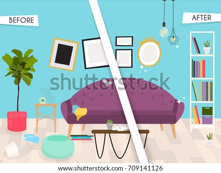 Home cleaning stock images royalty free images vectors for Modern cleaning concept