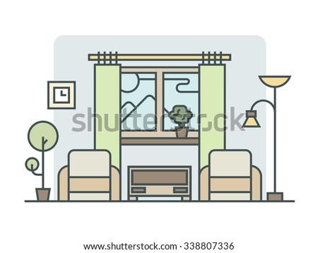 Living Room Design Vector Interior Design Process Steps