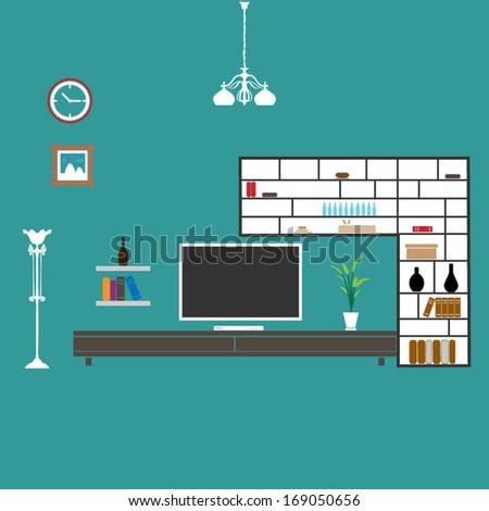 Living room vector format stock vector