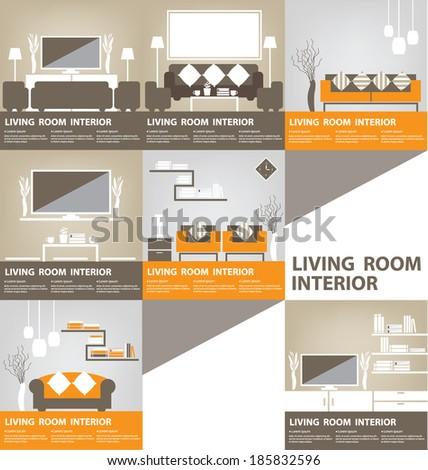 Living Room vector illustration - stock vector