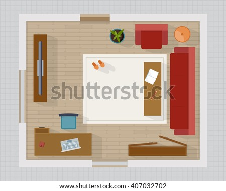 living room top view house top view stock images royalty free images amp vectors 14256