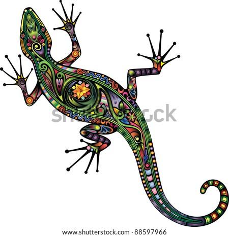Lizard. - stock vector