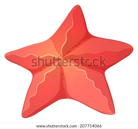 lllustration of a starfish on a white background