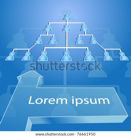 llustration of busines connections with banner - esp10 - stock vector