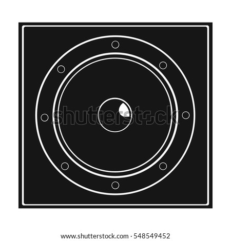 Load speaker icon in black style isolated on white background. Pub symbol stock vector illustration.