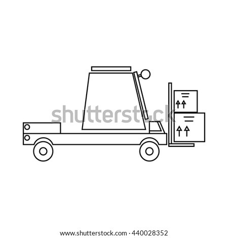 Loader icon, outline style - stock vector