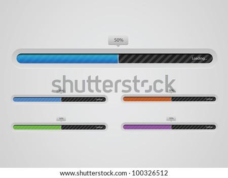 Loading bars - stock vector