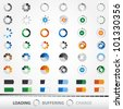 Loading, Charging, Buffering, Play, Go | Set of 48 Vector Icons - stock vector
