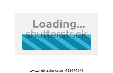 Loading Icon. Loading progress bar design style. Download and loader, progress bar website, upload interface, web indication, load internet vector illustration - stock vector